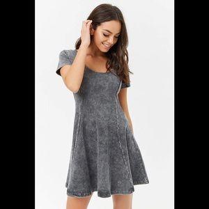 NWT Forever 21 Grey Skater Dress